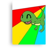 Smiling Dinosaur Canvas Print