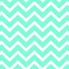 Tiffany Mint Aqua Blue Zigzag Chevron Pattern by RexLambo