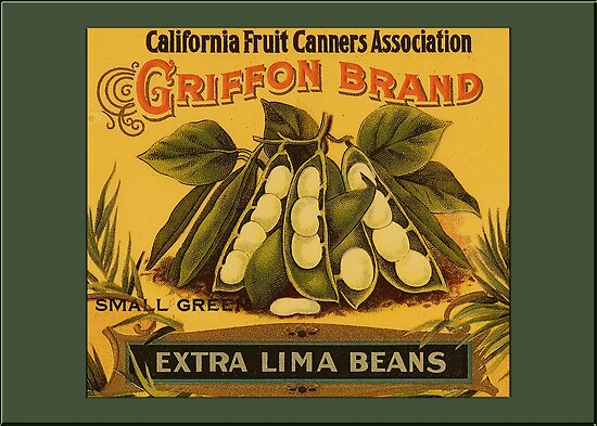Vintage Lima Beans Greetings by Yesteryears