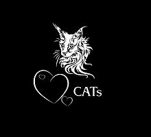 "I-pad case ""Catlovers"" - black edit by scatharis"