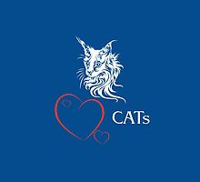 "I-pad case ""Catlovers"" - blue/white edit by scatharis"
