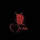 "I-pad case ""Catlovers"" - black/red edit by scatharis"