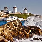 Waves in Mykonos by Renzo Re