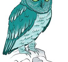 Teal Owl by BlackMizu