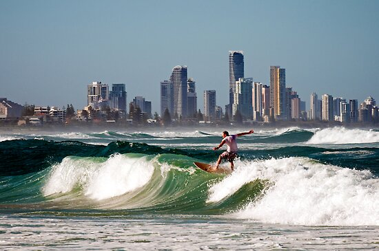 Surfing at the Gold Coast by Renee Hubbard Fine Art Photography