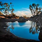 Irwin River, Mullewa WA  by Pene Stevens