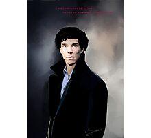 Sherlock portrait Photographic Print