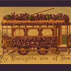 Vintage Trolley Car Greetings by Yesteryears