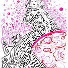 Our Benevolent Lady of the Swirling Soap Bubbles by Regina Valluzzi