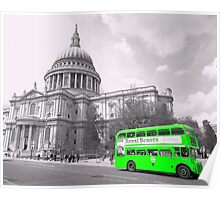 Green Routemaster Poster