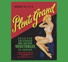 Vintage Label Plenti Grand Vegetables by Vana Shipton