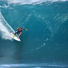 Josh Kerr at Pipeline by kevin smith  skystudiohawaii