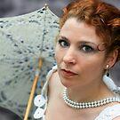 Lady with umbrella by KERES Jasminka