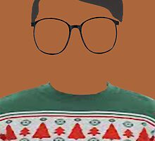 Hipster Green Ugly Sweater by Brit Sigh