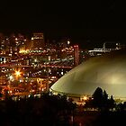 Tacoma Dome at night by JJConnors