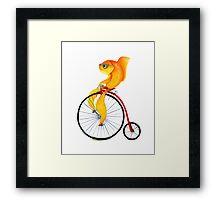 Penny Farthing Fish Framed Print