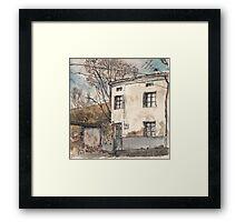 House in Guardo in Winter Framed Print