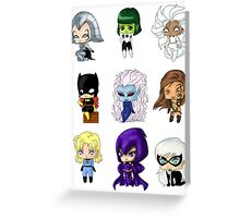 Chibi Heroines Greeting Card