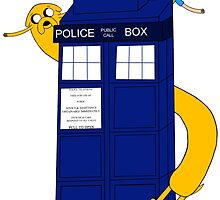 Finn and Jake on the TARDIS by ninaclentini