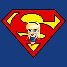 Chibi Supergirl by artwaste