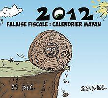 Calendrier maya et la falaise fiscale en caricature by Binary-Options