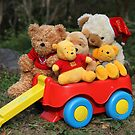 Wagon of Teddies by aussiebushstick