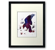 Ink Raven Framed Print
