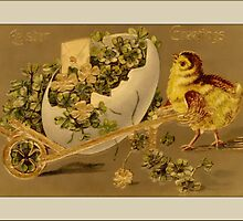 Vintage Chick Easter Greetings by Yesteryears