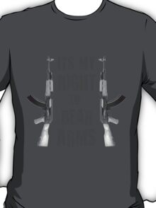 right to bear arms bw T-Shirt
