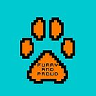 Furry and proud 8-Bit cyan and orange cases by Damfurrywolf