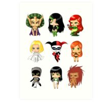 Chibi Villainesses Art Print
