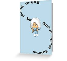 Chibi Spiral Greeting Card