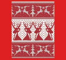 Frosty Antler - Red Reindeer Knitwear Style Design by FrostyAntler