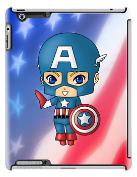 Chibi Captain America by artwaste
