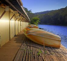 Audley Boatshed at Dawn by geomar