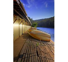 Audley Boatshed at Dawn Photographic Print