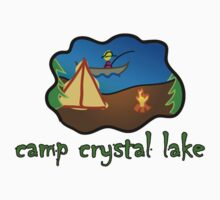 camp crystal lake truck stop vacation tee  by Tia Knight
