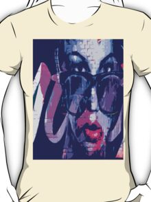 Frosty Antler - Street Art Glasses Tricycle Design T-Shirt