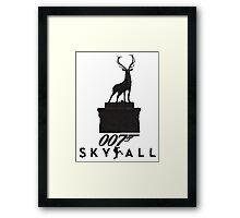 Skyfall-Black Framed Print