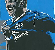 Tim Cahill Comic Book Style Painting by chrisjh2210