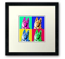 German Shepherd Pop Art Framed Print