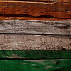 Vintage Ireland Flag - Cracked Grunge Wood by UltraCases
