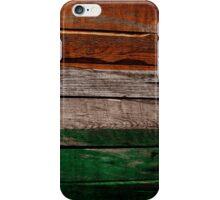 Vintage Ireland Flag - Cracked Grunge Wood iPhone Case/Skin