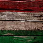 Vintage Italy Flag - Cracked Grunge Wood by UltraCases