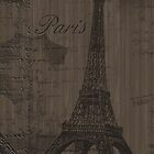 Eiffel Tower Paris Faux Wood Case by Jenifer Jenkins