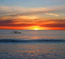 Kayaks by Sunset by JazzHodgess