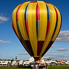 Beautiful Yellow and Pastel Balloon by Gene Walls