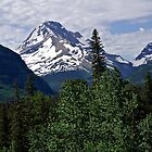 Glacier National Park Mountain and Sky by Michael Kirsh