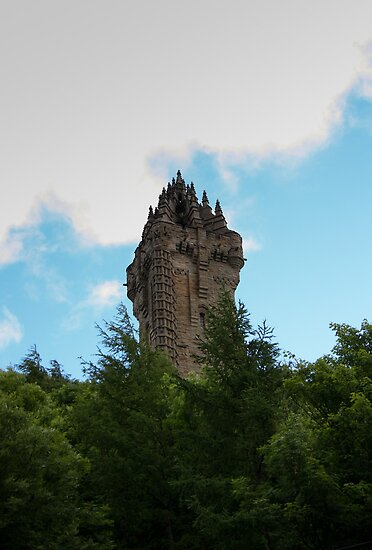 Wallace Monument in colour by Kaye Stewart