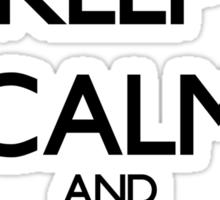 Keep Calm Alien Sticker